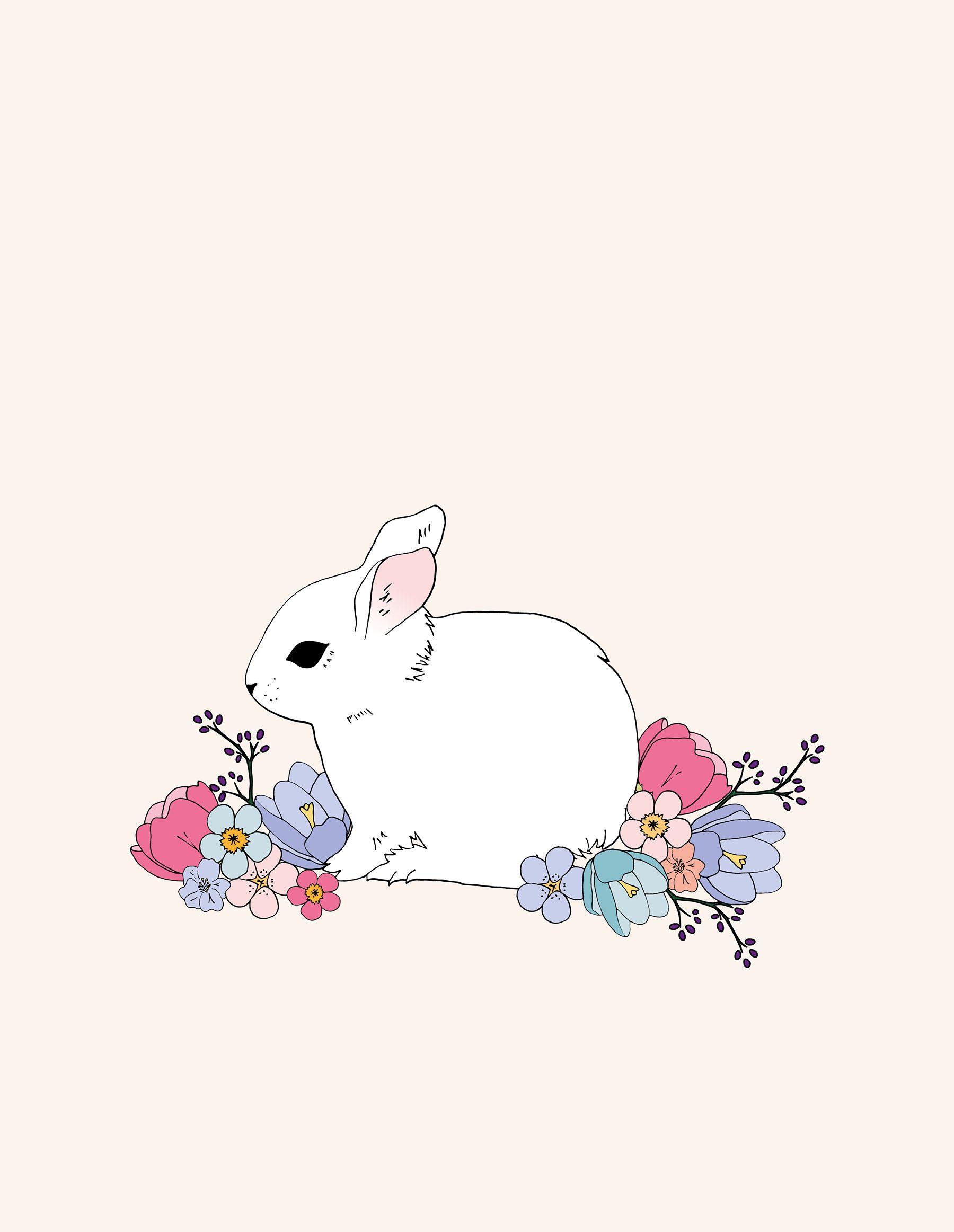 Spring Bunny Desktop Wallpaper Easter Wallpaper Cute Wallpapers