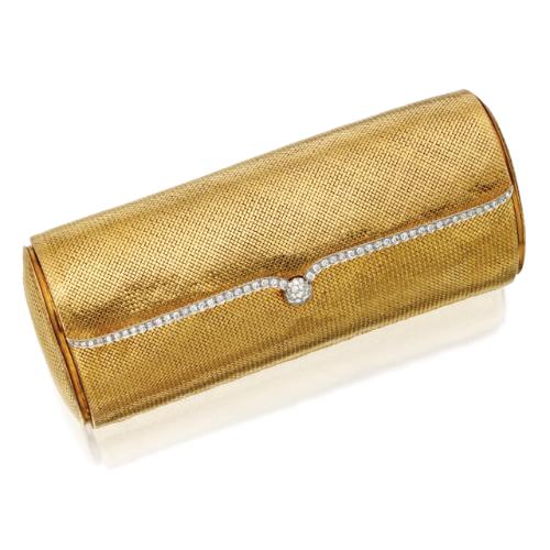 ecdcb3011c 18 Karat Gold and Diamond Clutch