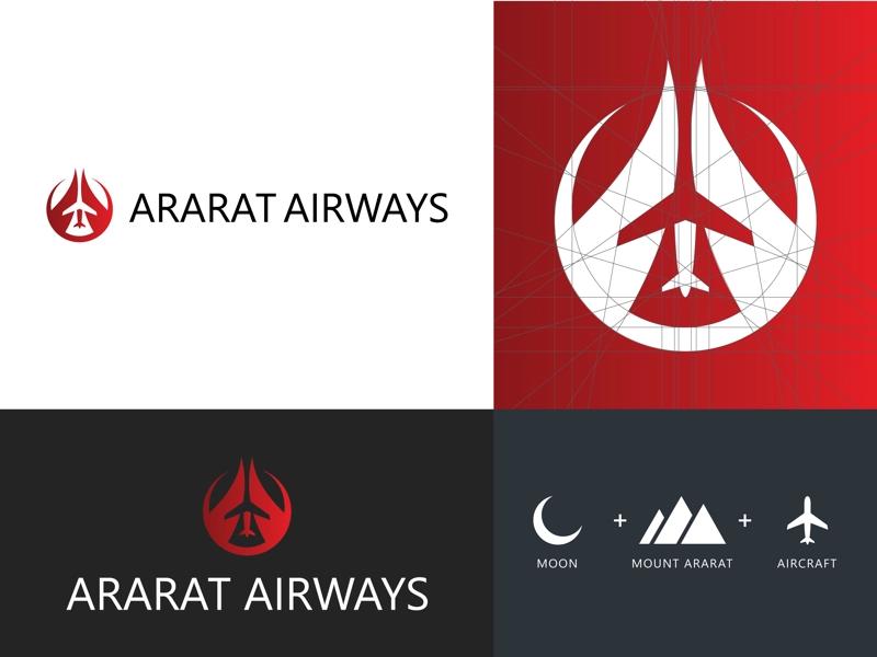 Ararat Airways Logo Design In 2020 Logo Design Custom Logos Design