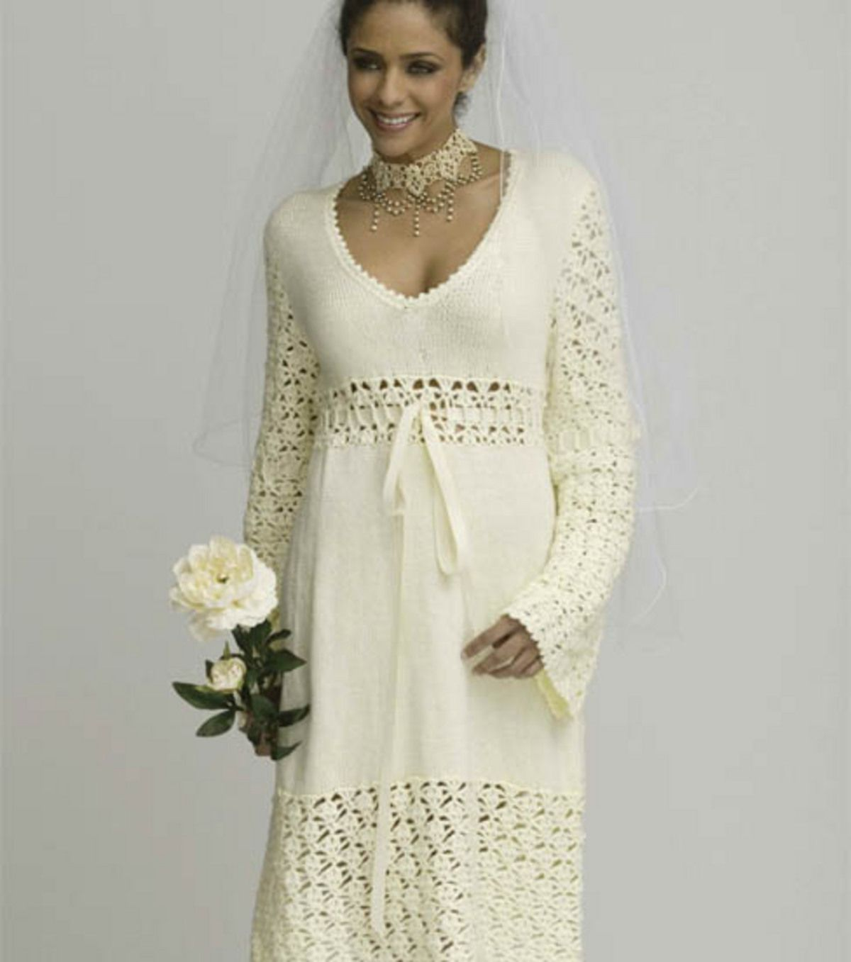 Crochet Wedding Dress Patterns And Accessories To