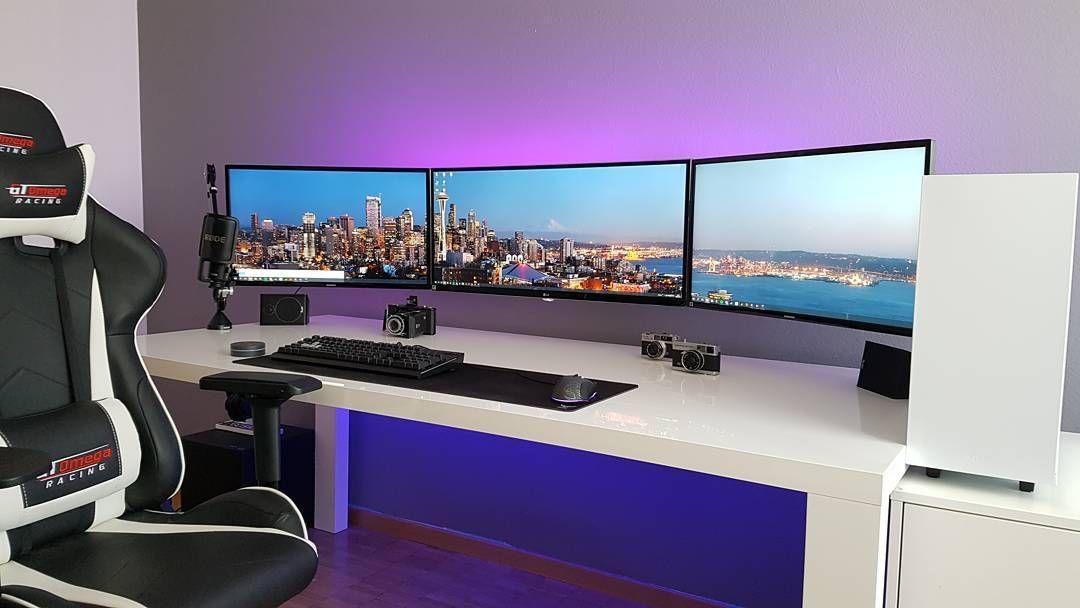 Schreibtisch, Gamer Setup, Spielcomputer, Pc Gamer, Spiel, Projekte, Möbel,  Pc Setup, Desk Setup