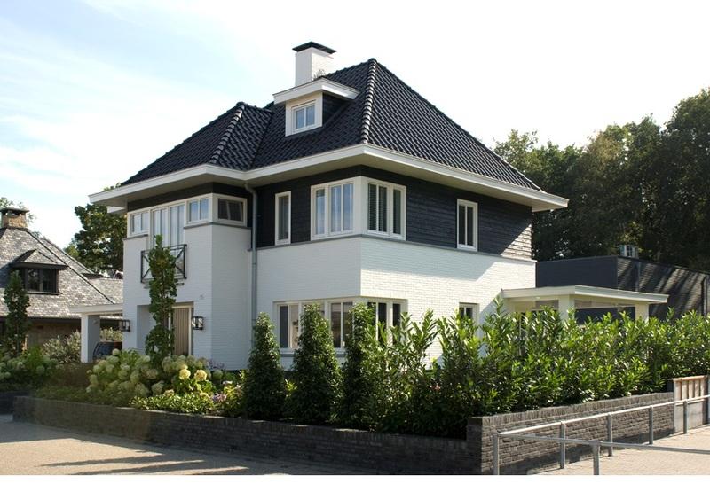 Afbeeldingsresultaat voor wit gekeimd huis moderne jaren for Huizen jaren 30 stijl