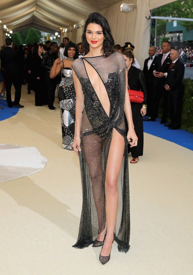 bc80668156 Kendall Jenner s Naked Met Gala Dress Is Made From One Piece of String