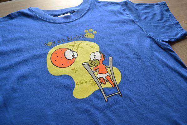 camiseta niño azul