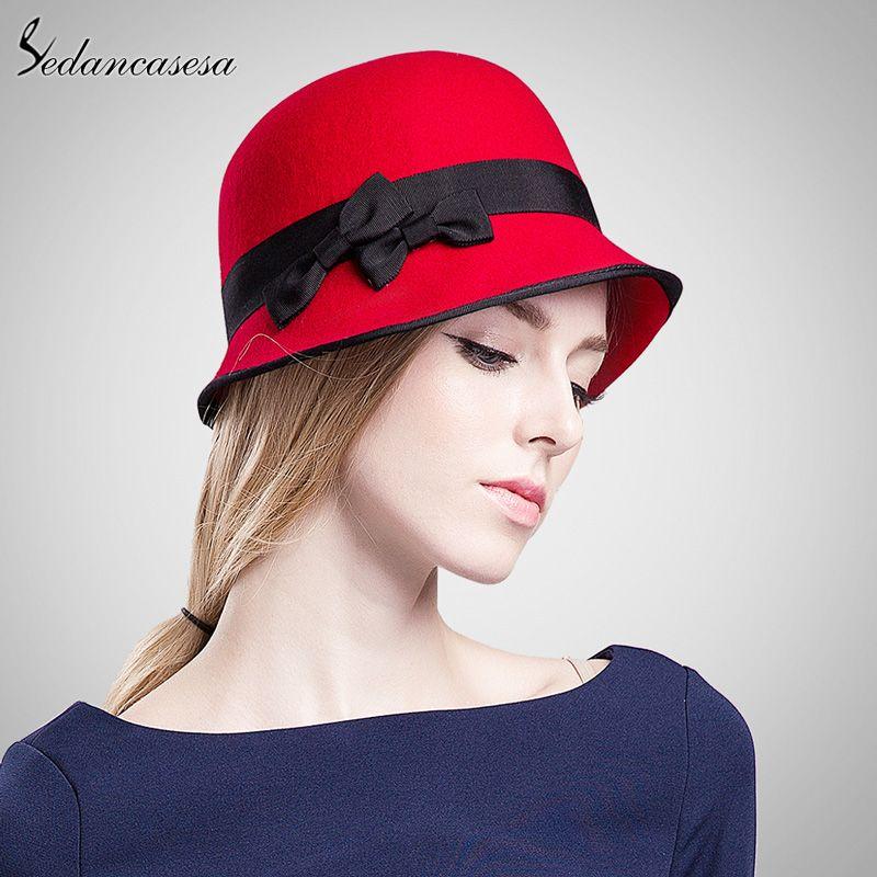 62ba6313867e4 100% Wool From Australian Cloche Fedora Hat Classic Style Women Ladies Wool Cap  Fedora Headwear Who like it    shop  beauty  Woman s fashion  Products  Hat