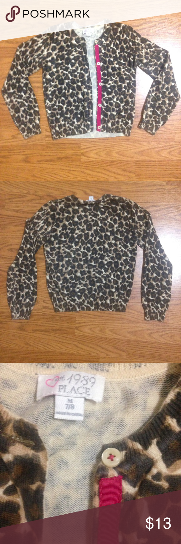 TCP Girls Cardigan leopard print sweater 7/8 M | Cheetah print ...