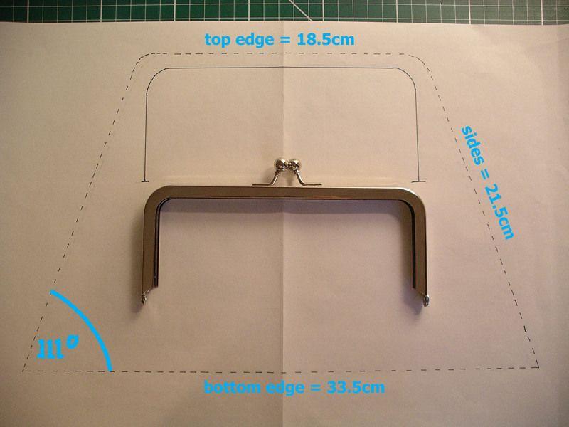 How To Glue A Frame To Fabric Clutch Purse Tutorial Purse Tutorial How To Make Purses