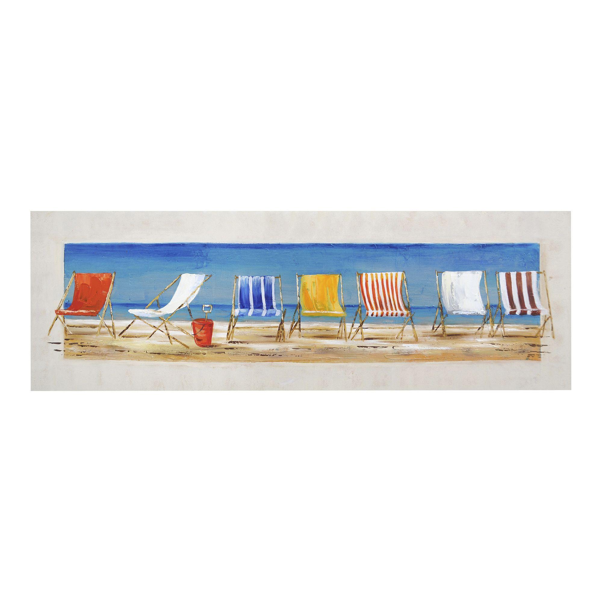toile 150x50cm multicolore farniente toiles d coratives affiches et d co murale salon et. Black Bedroom Furniture Sets. Home Design Ideas