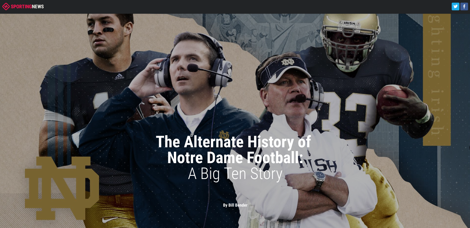 The Alternate History Of Notre Dame Football A Big Ten Story
