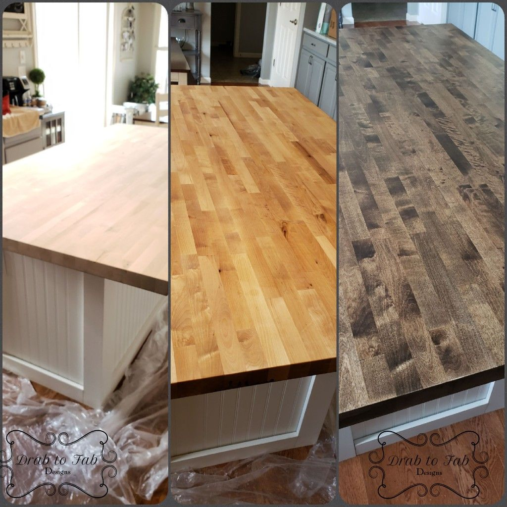 Butcher Block Stain Process Butcher Block Stain Minwax Stain Colors Staining Wood