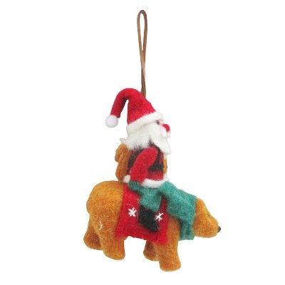 8c1d151dd995c Santa Riding Bear Christmas Ornament - Wondershop™   Target ...
