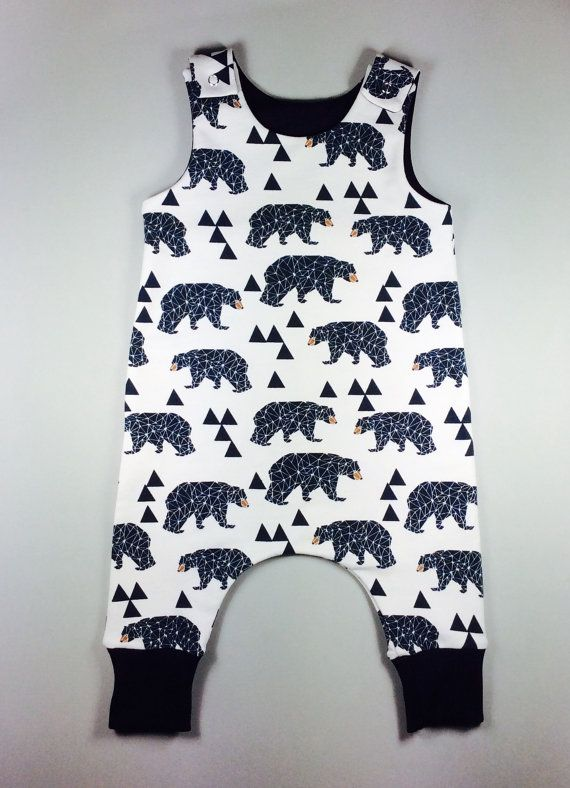 Harem style baby romper, hipster baby romper, organic baby clothes ...