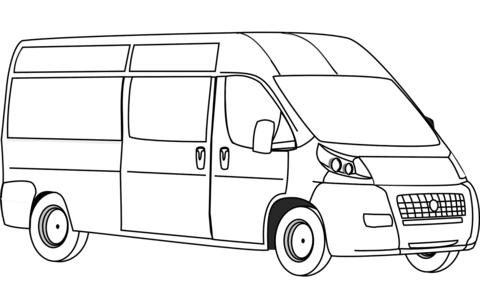 Van Coloring Page Free Printable Coloring Pages Van Lines Van Art Transportation