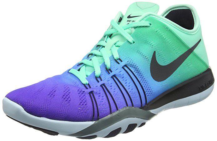 info for 6158f ced5b Women s Nike Free TR 6 Spectrum Training Shoe Green Glow Black Glacier Blue Hasta  Size 7 M US