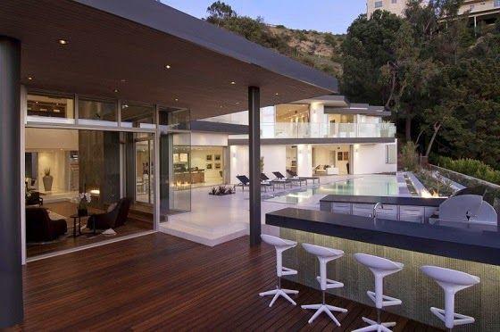Casa moderna terraza barbacoa arquitectura pinterest - Barbacoa para terraza ...