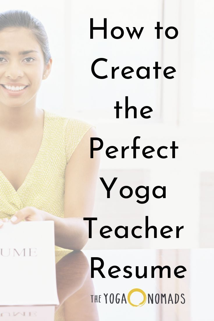 How to create the perfect yoga teacher resume in 2020