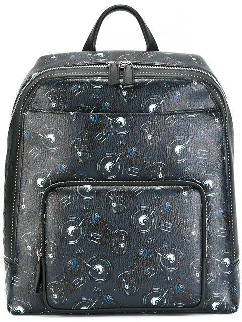28ba8071ef01 SALVATORE FERRAGAMO motorcycle print backpack.  salvatoreferragamo  bags   leather  backpacks