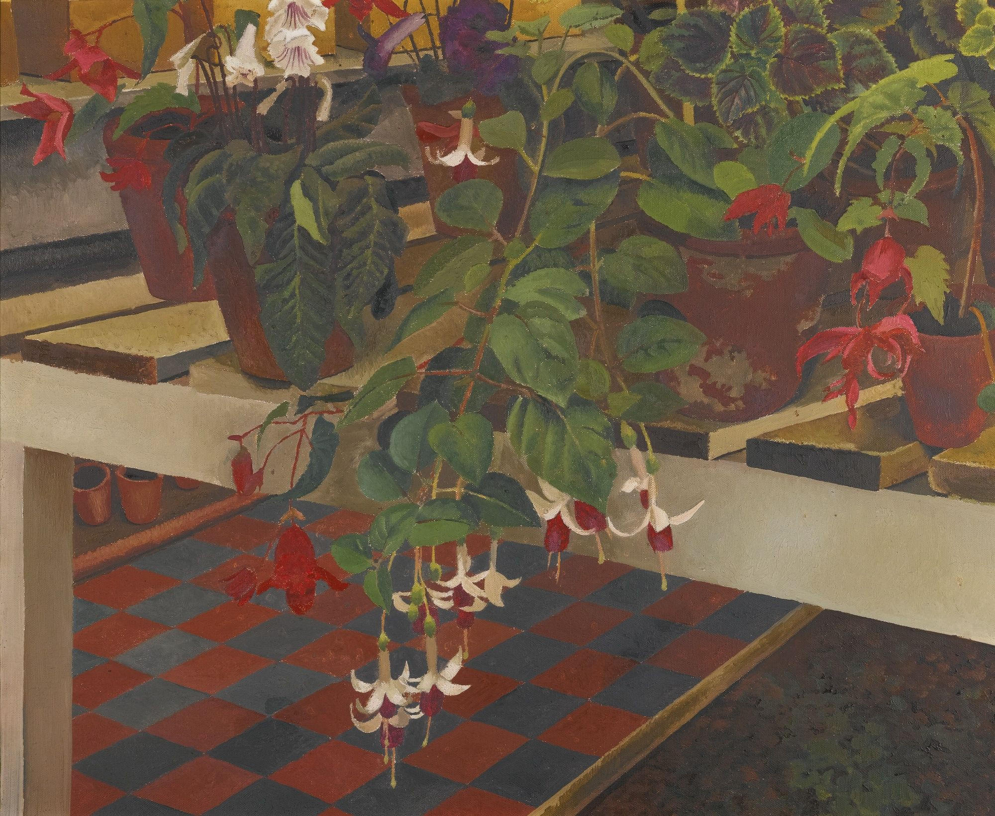 The greenhouse stanley - Sir Stanley Spencer R A Greenhouse Interior