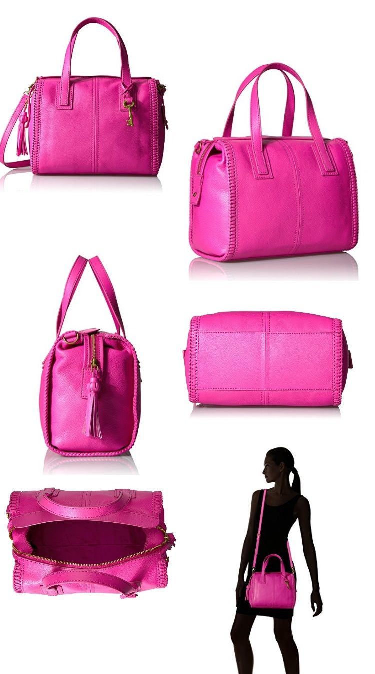 Hot Pink Fossil Emma Satchel | Fossils, Hot pink and Satchels
