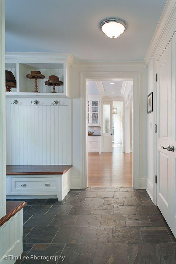 Mudroom In Riverside Ct By Mockler Taylor Architects Www Mocklertaylor Com Mudroom Flooring Home Kitchen Flooring