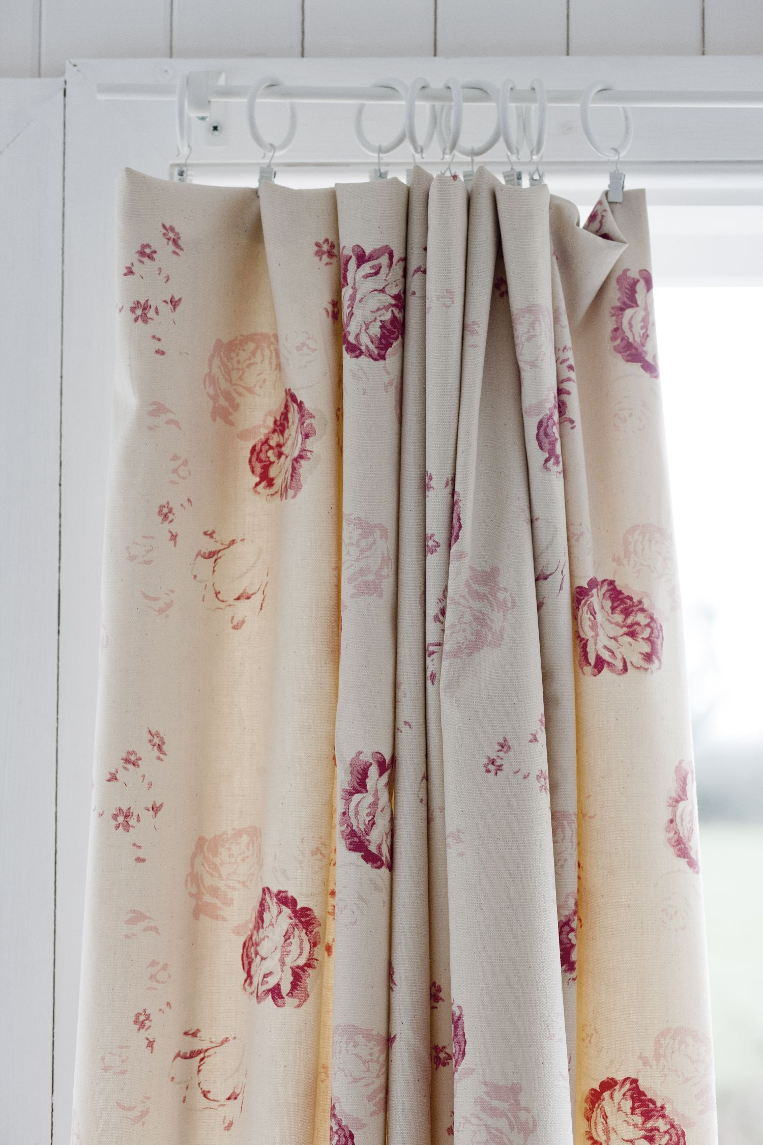 Curtains In Cabbages Roses Fabric Cortinas My Life
