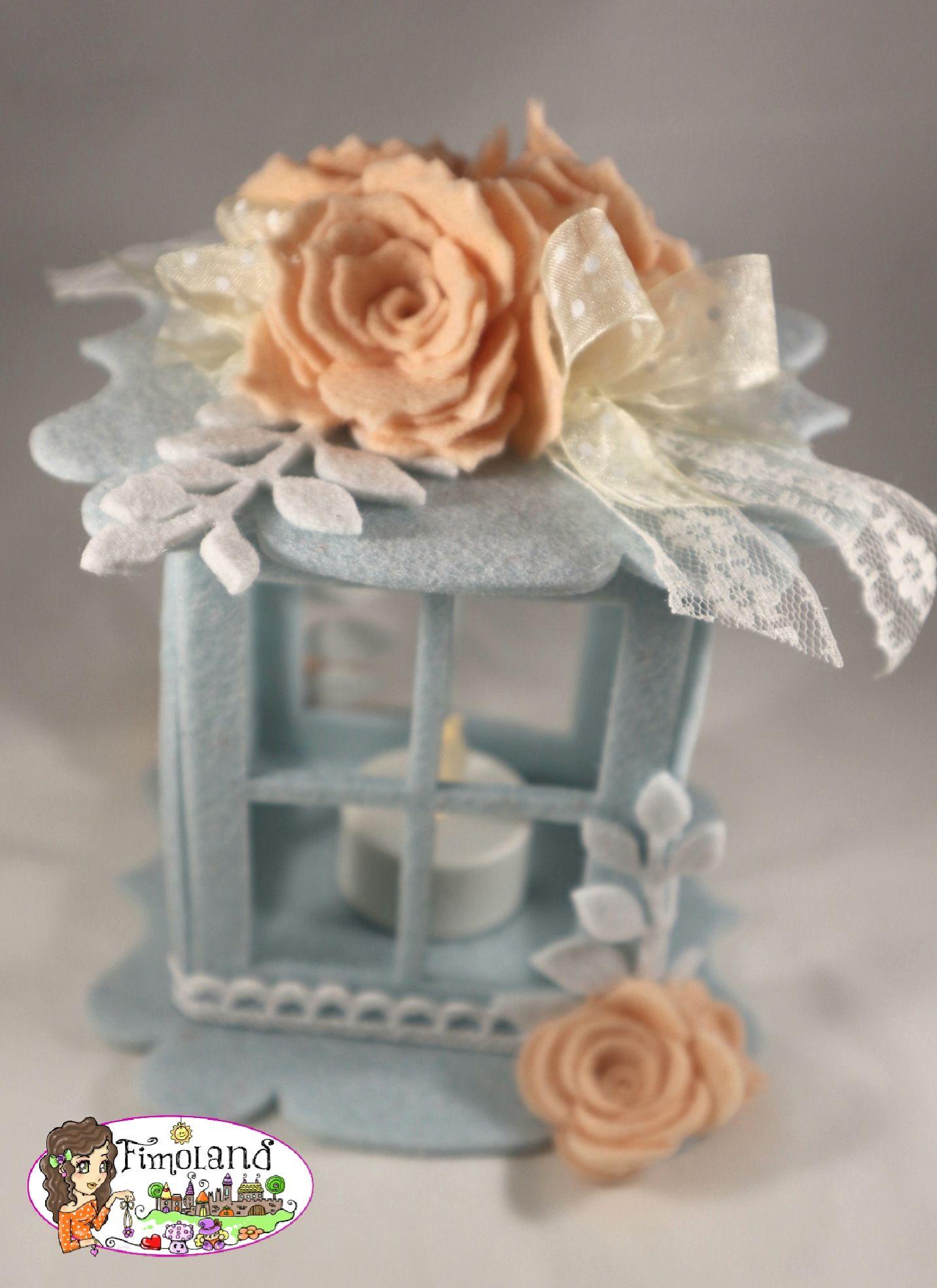 Idee Regalo Bomboniere Matrimonio.Lanterne In Feltro Matrimonio E Anniversario Festivita E