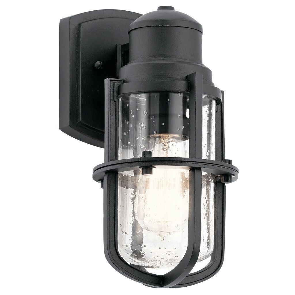 Kichler lighting suri collection light black outdoor wall sconce