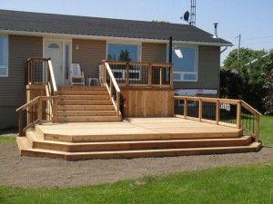 Multi Level Custom Deck Design In Peterborough Patio Deck Designs Deck Designs Multi Level