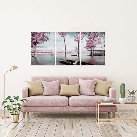 Chic Home Blossom 3 Piece Set Wrapped Canvas Wall Art Walmart Com Chic Home Decor Home Decor Chic Home