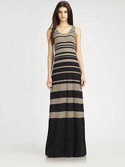 Vince - Striped Maxi Tank Dress