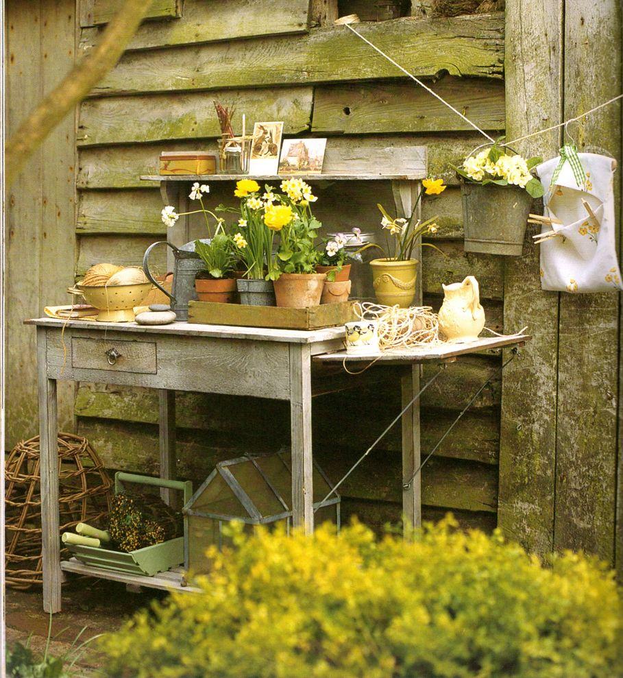 Potting Bench Garden Pinterest