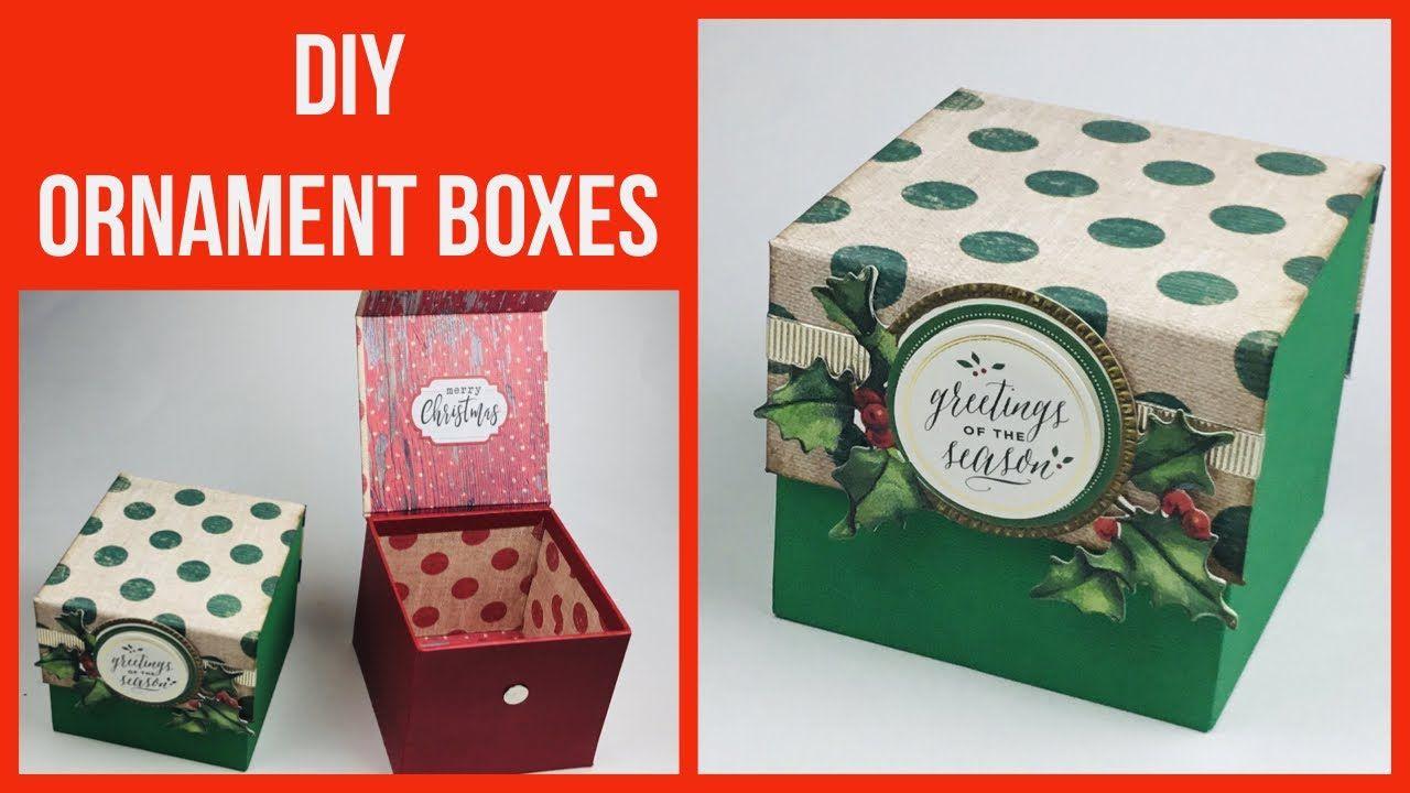 DIY ORNAMENT BOXES🎄 Super Easy Box Making Tutorial
