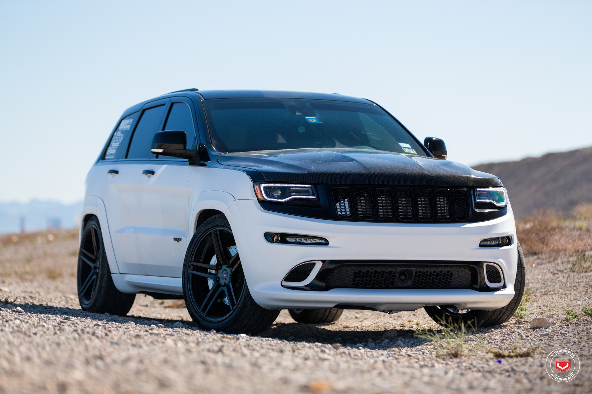 Black Top Jeep Grand Cherokee Srt On Vfs5 Wheels By Vossen