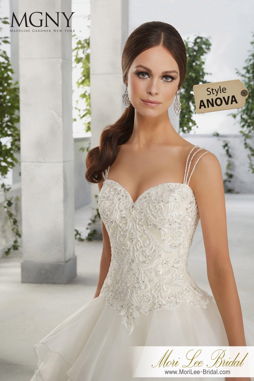 Dress style anova ferdinanda a distinctive flounced organza ball