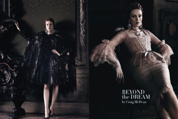 Karen Elson e Ava Smith por Craig McDean para Vogue Itália Setembro 2013 [Editorial] Blog de Moda