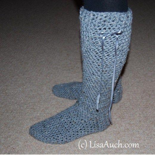 Slipper Sock Boots Free Pattern | crochet slippers | Pinterest ...