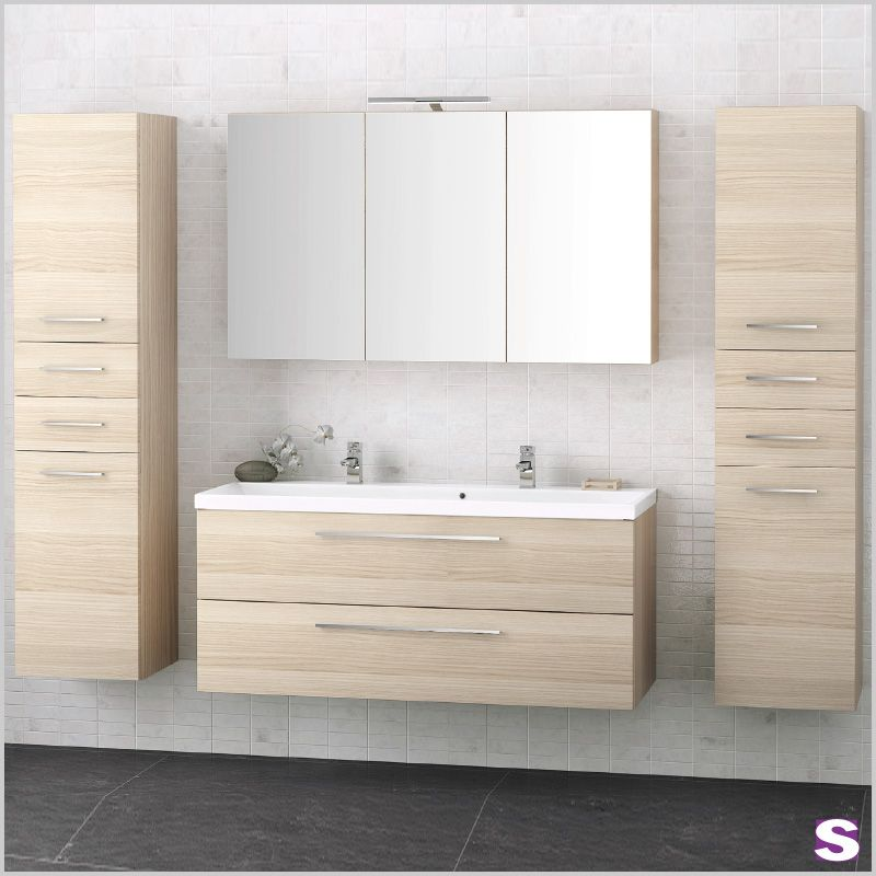 Holzoptik Badmöbel Set Innis - SEBASTIAN eK - bringt - badezimmermöbel villeroy und boch