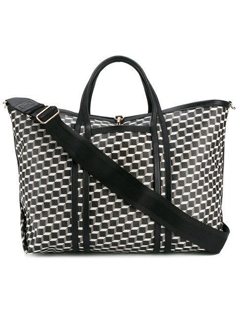 cube print tote bag - Black Pierre Hardy