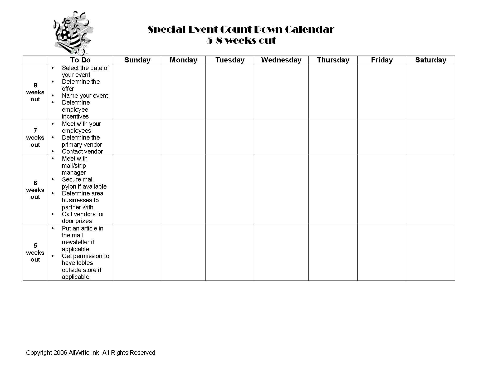 worksheet Calendar Worksheet here is a calendar worksheet from its party to help in the planning process