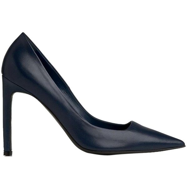 70c23f86058 Pre-owned L.k. Bennett Perlin Pointed Toe Heel Navy Pumps (3 775 ZAR) ❤  liked on Polyvore featuring shoes