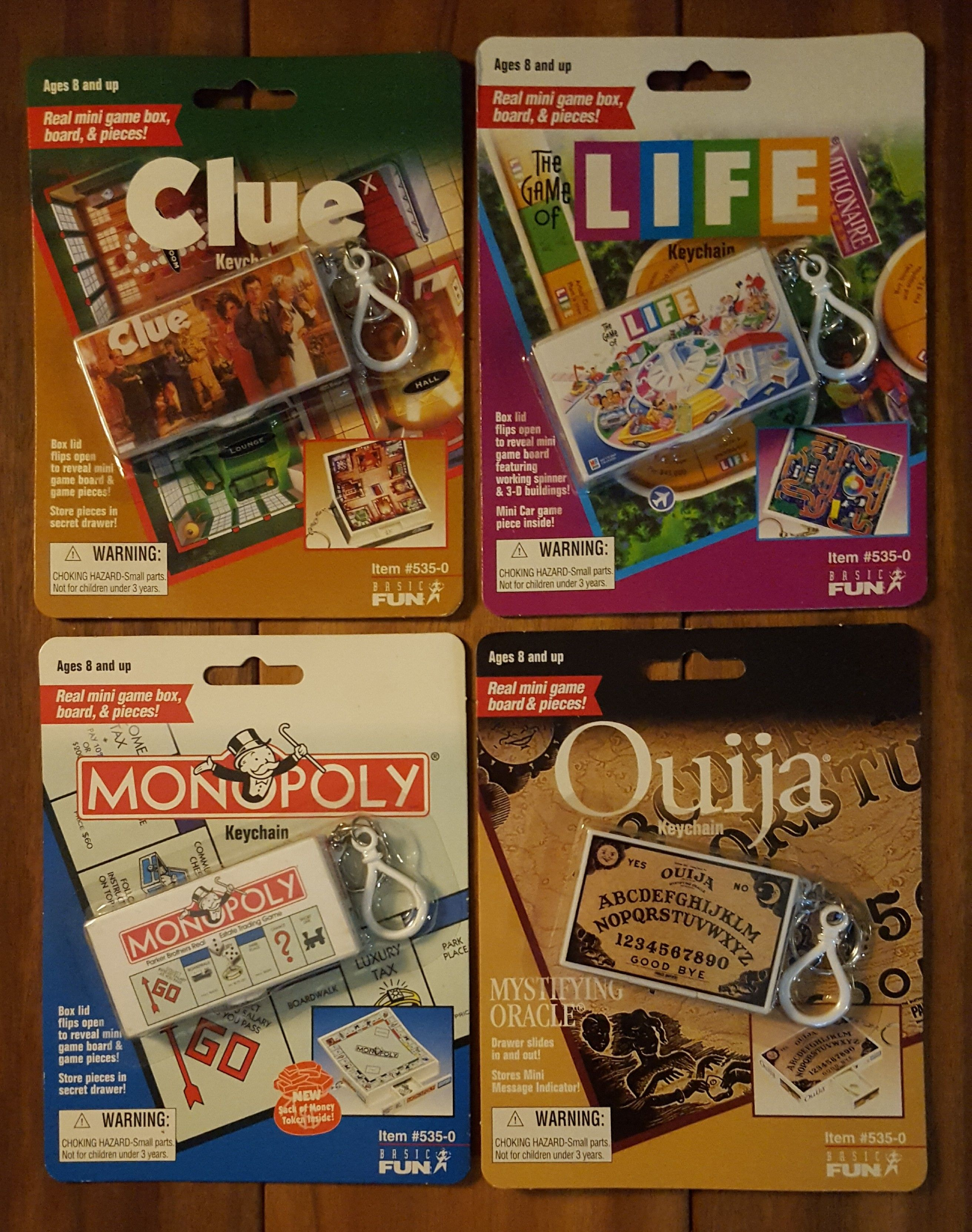Mini Board Games Clue Life Monopoly Ouija Lot of 4