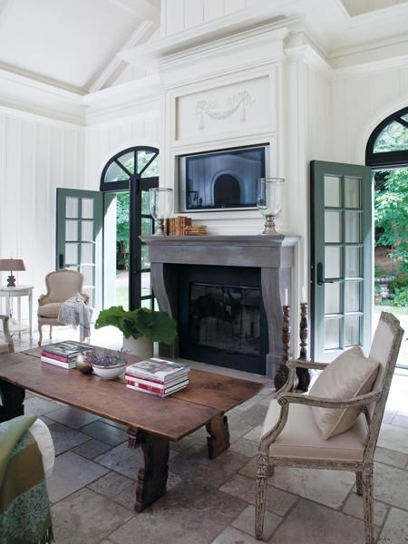 #60inchledtv Inspiring Interiors - French Style in Ayer's Cliff & Daniel Brisset's Home