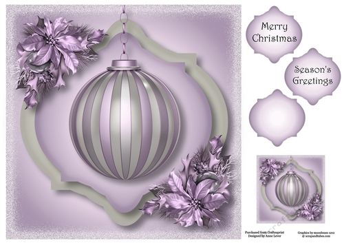The Soft Christmas bauble - Purple 8x8   Christmas baubles ...