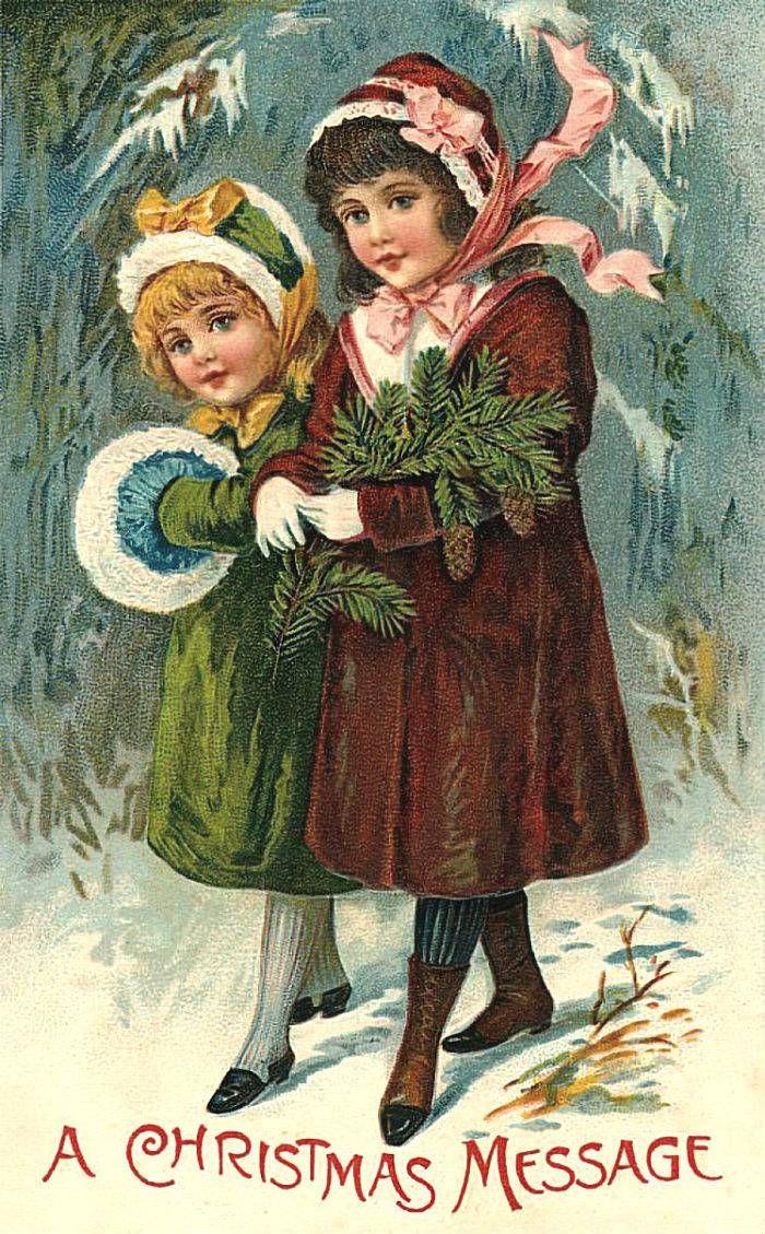 Открытки, открытки старины на новый год