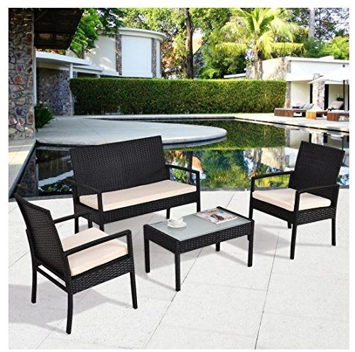 Lightweight Garden Furniture Md group patio set table chair sofa cushioned seat lightweight md group patio set table chair sofa cushioned seat lightweight rattan outdoor garden furniture 4pcs workwithnaturefo