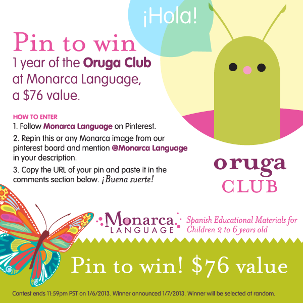 Giveaway! Pin to win a 1-year membership to the Oruga Club at ...