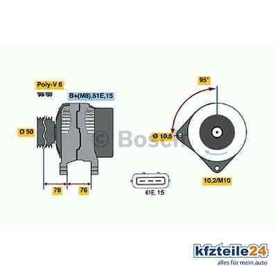 Bosch Generator (0 986 040 390) für u.a. BMWsparen25.de