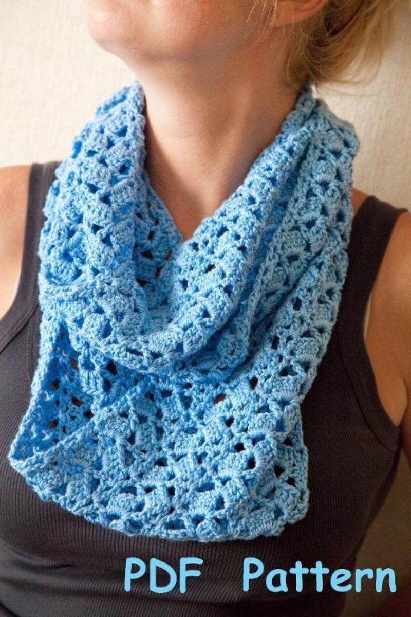 Crochet infinity scarf with single seam   Pinterest