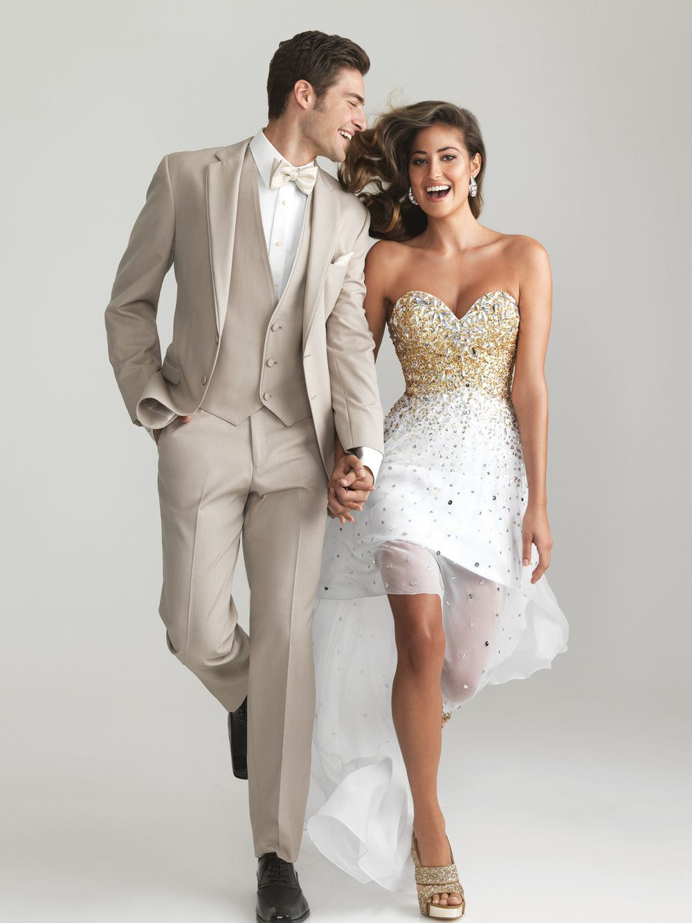 Custom-made Champagne tuxedo groom wedding suit /groom wedding ...