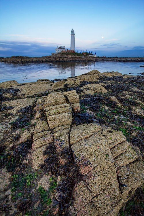 St. Mary's lighthouse, Whitley Bay. United Kingdom